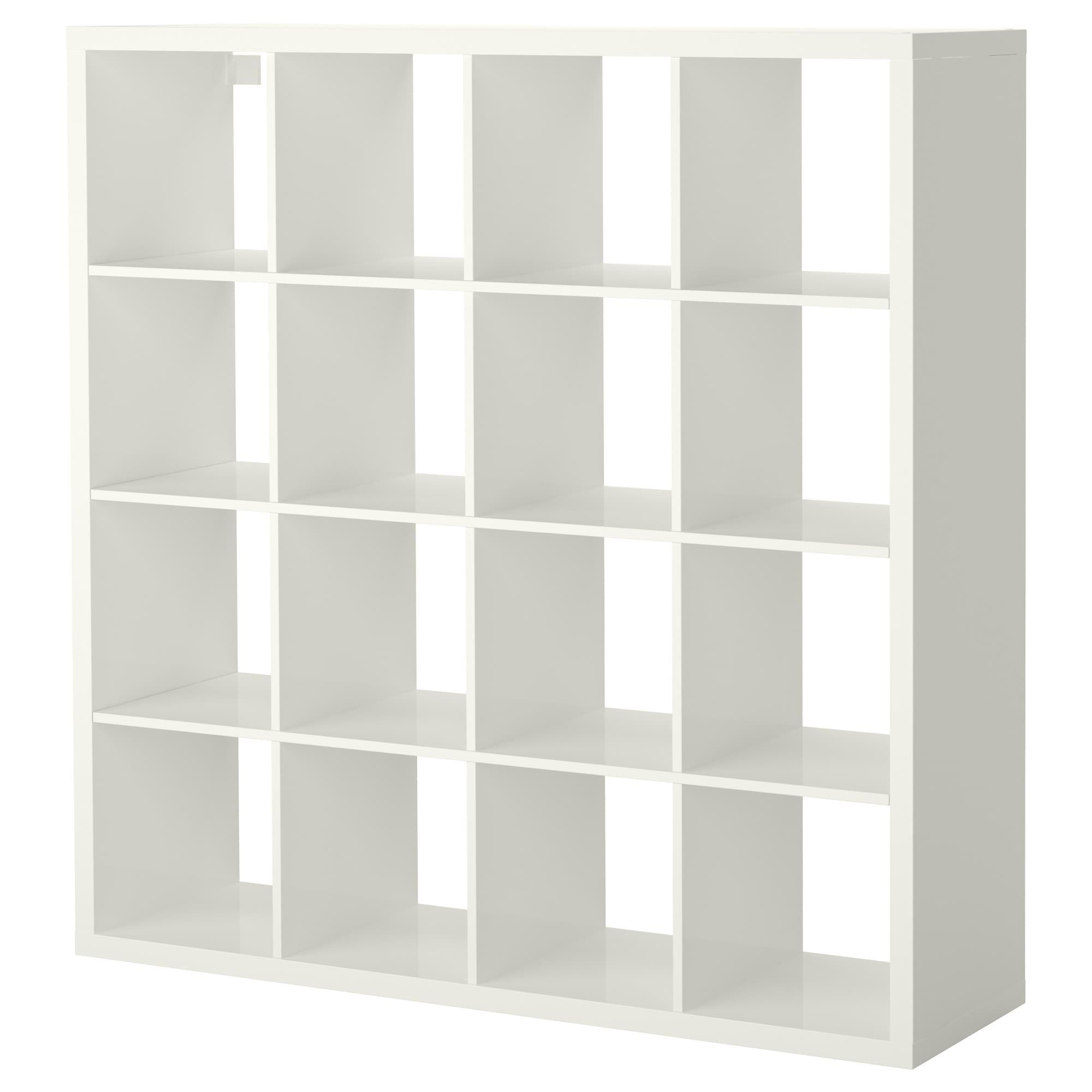 Kallax Shelf Unit High Gloss White 57 7 8x57 7 8 Ikea In 2020