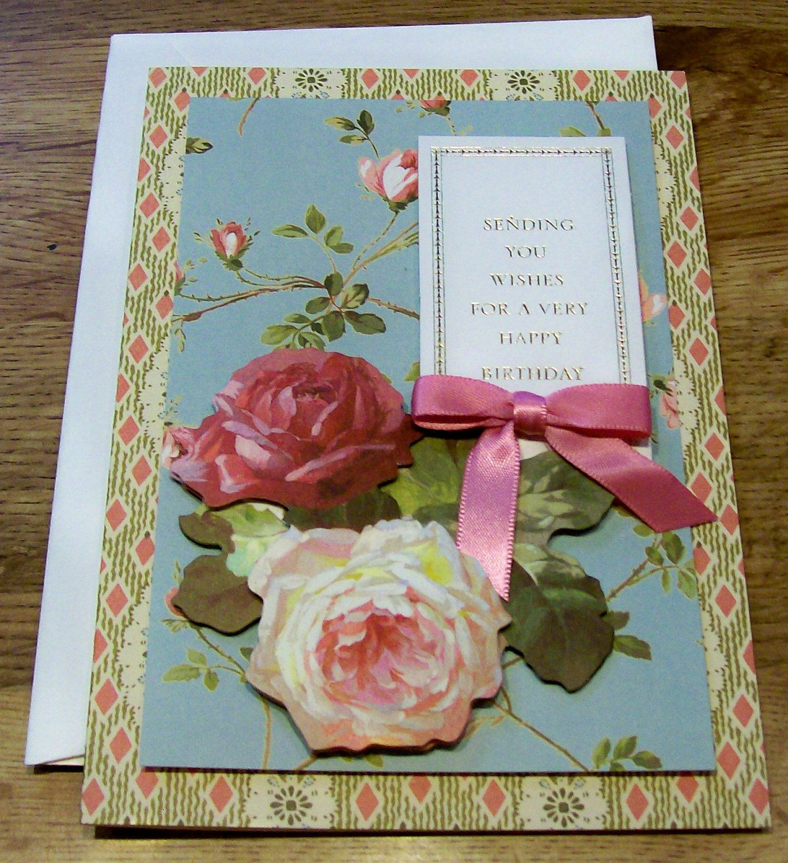 Beautiful Vintage Handmade Greeting Cardsg 13681500 Lady Ds