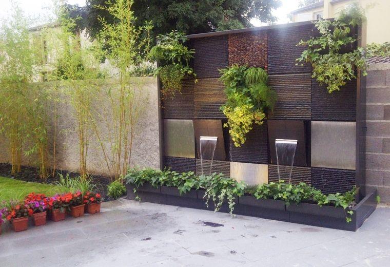 Paredes y vallas con jardines verticales zen patio