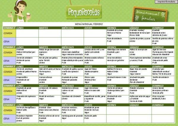 menu nutritivo para la semana