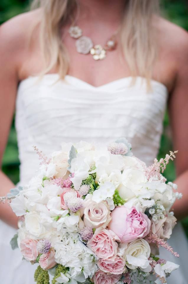 Romantic blush bouquet by Faye & Renee Floral and Event Design