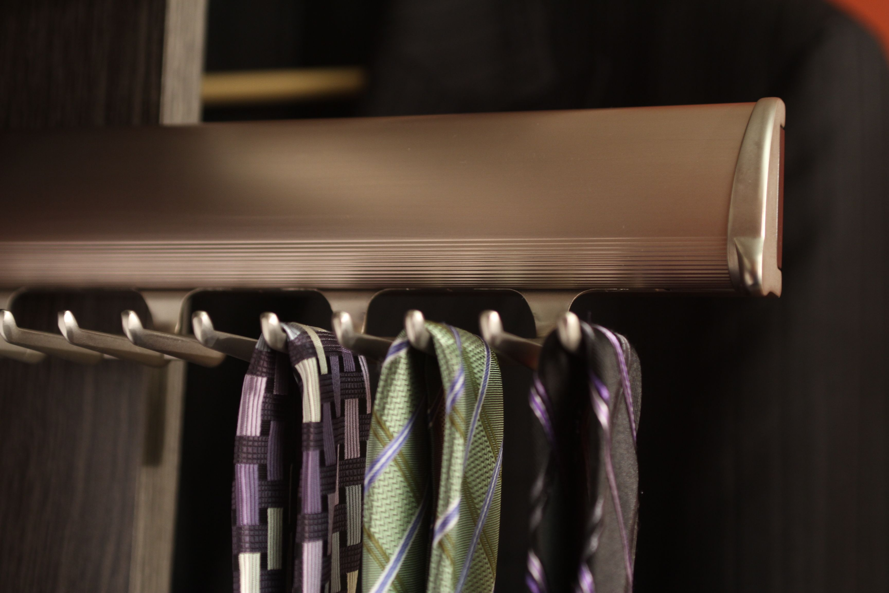 Retractable Tie Rack Closet Accessories Custom Closets Scarf Rack