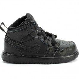 finest selection 0b698 833ac Air Jordan 1 Mid Infant Toddler Lifestyle Shoe (Black/Black ...