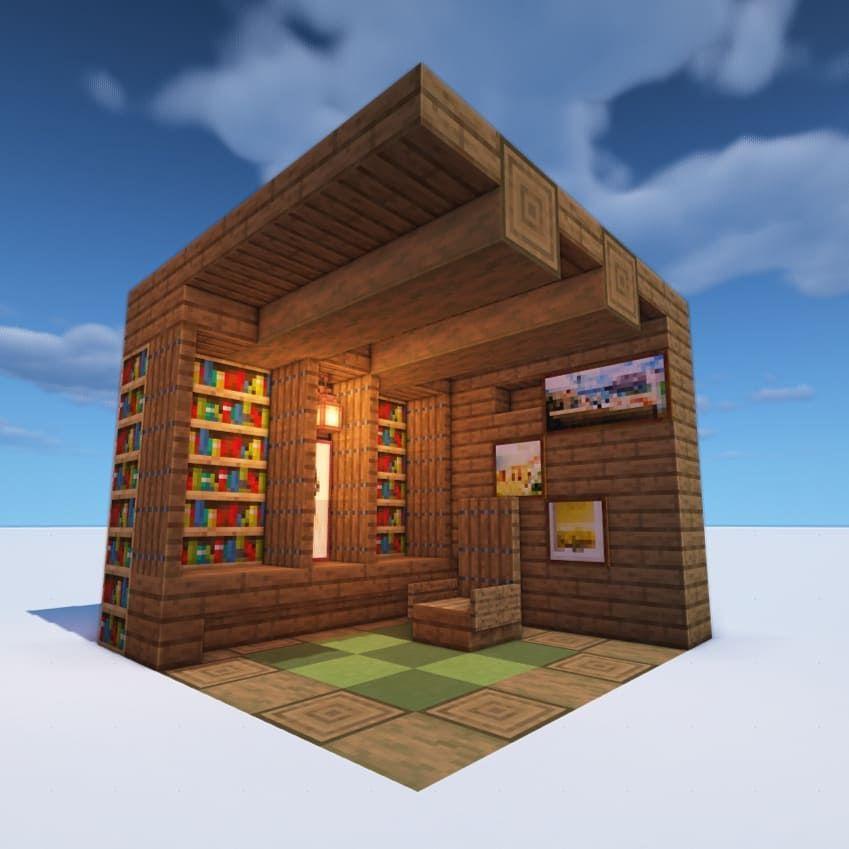 майнкрафт небольшой дом #2
