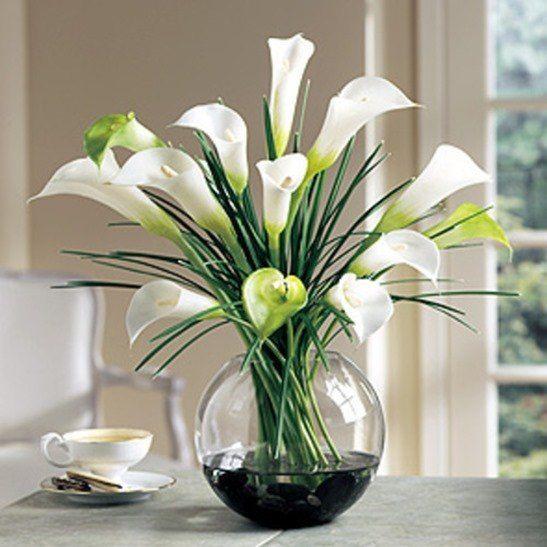 jarron-flores-artificiales | arreglos florales | Pinterest | Flowers ...