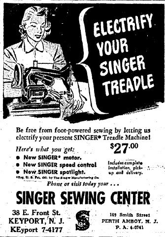 History Singer Sewing Machines Monmouth And Middlesex Counties