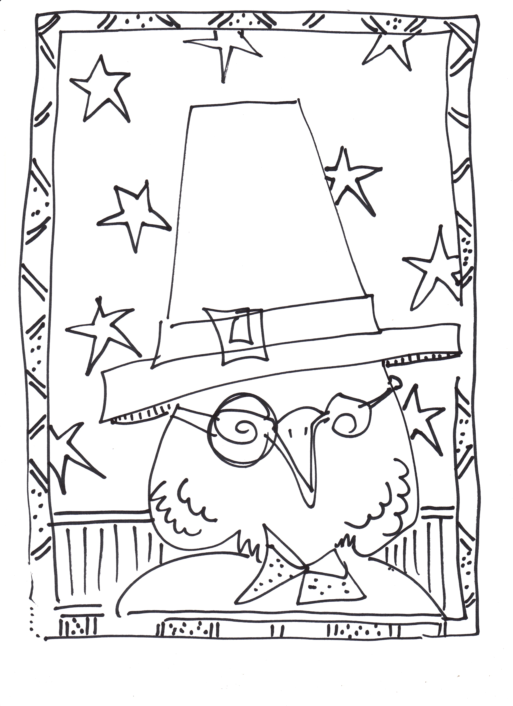 Thanksgiving turkey coloring page from Mr. Twitter\'s | Coloring ...