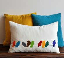 Making Pillow Covers Bird Patterncushion  Google Search  Inside  Pinterest  Diy