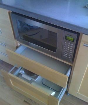 ikea kitchen base microwave cabinet