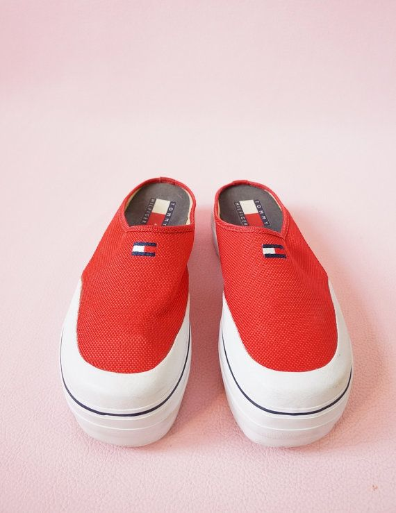 8bc087c27 Tommy Hilfiger 90s Platform Slip On Sneakers 90 s by ACTUALTEEN