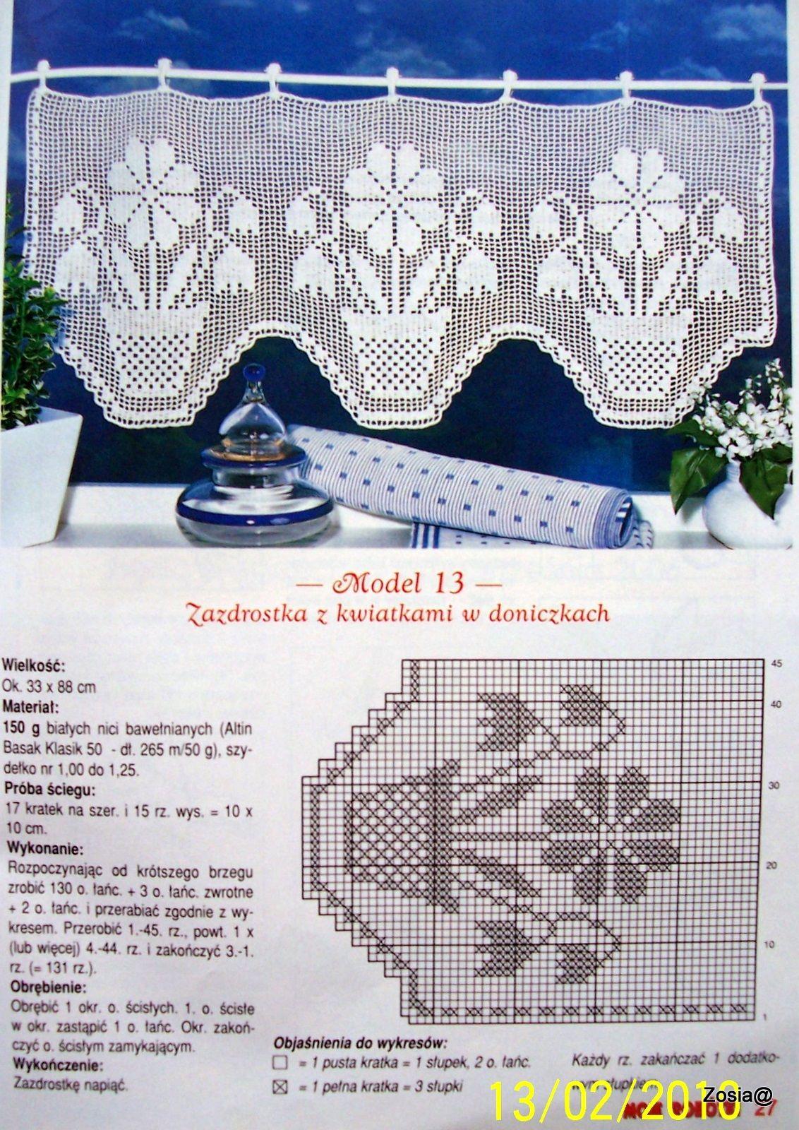 Cortina ganchillo de red Filet crochet curtain | Bicos | Pinterest ...