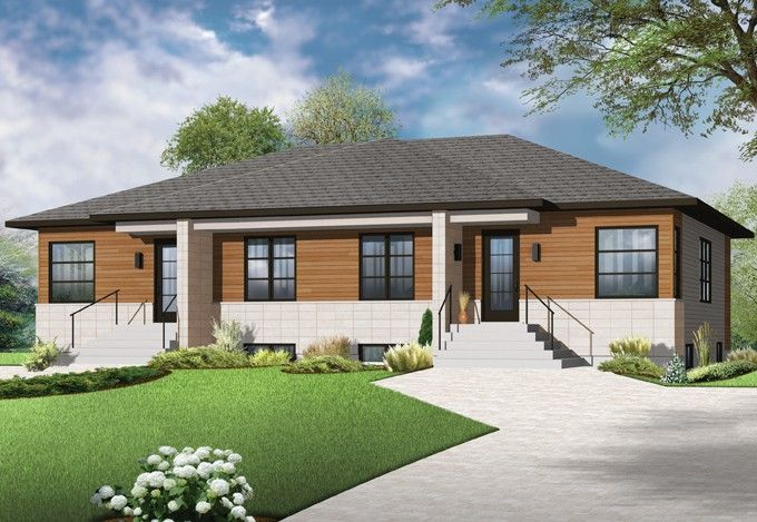 Contemporary House Plan with 1836 Square Feet and 4 Bedrooms from