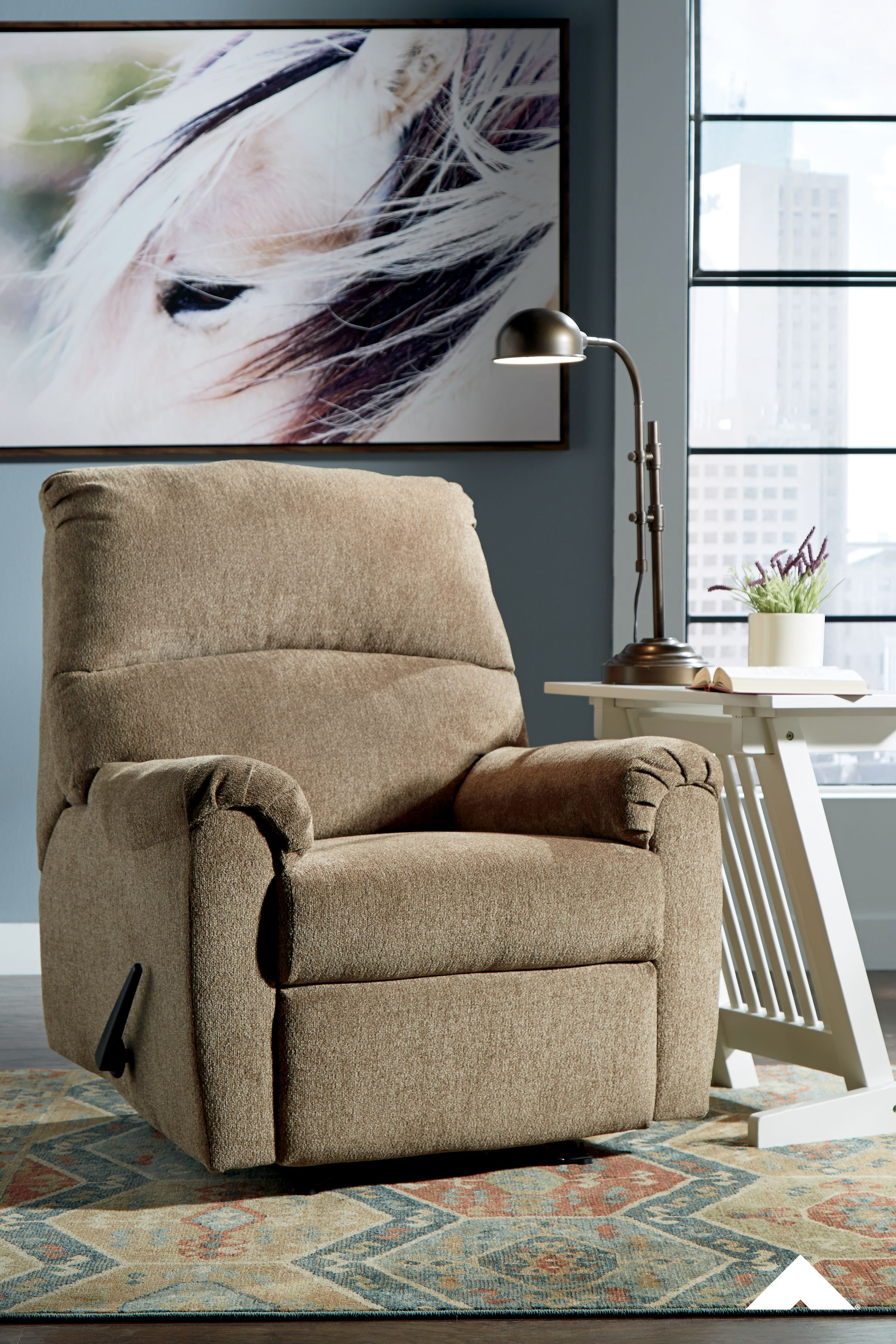 Nerviano Mocha Zero Wall Recliner By Ashley Furniture Recliner Furniture Dakota Furniture