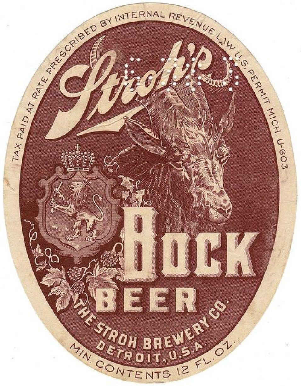 Vintage Stroh S Bock Beer Refrigerator Tool Box Magnet Man Cave Vintage Beer Labels Vintage Beer Beer Label