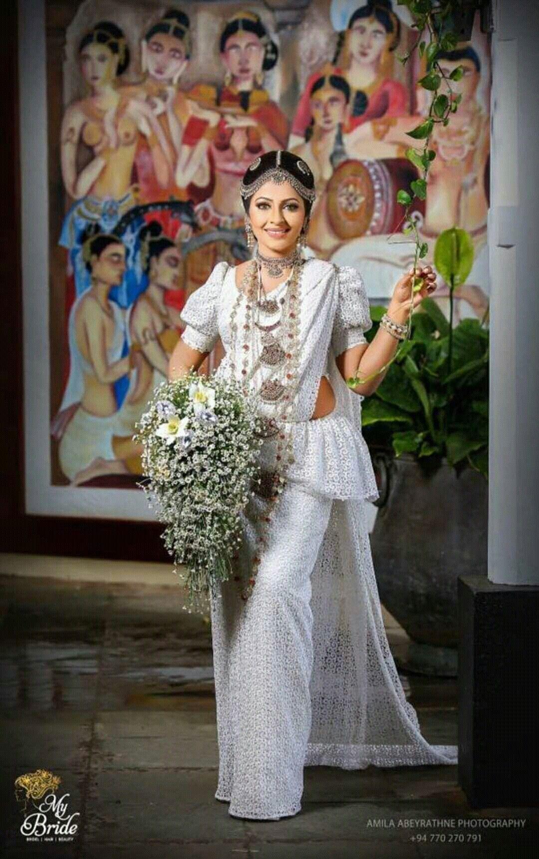 Kandiyan Bride Bridal Dress Design Saree Wedding Bridal Saree