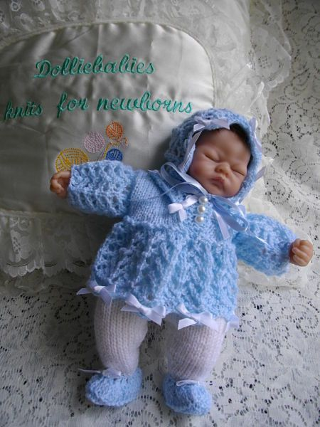 Knitting Clothes For Premature Babies : Knitting pattern no micro preemie quot dress set