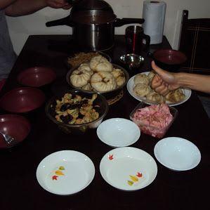 Comida na casa de Amigos Chineses