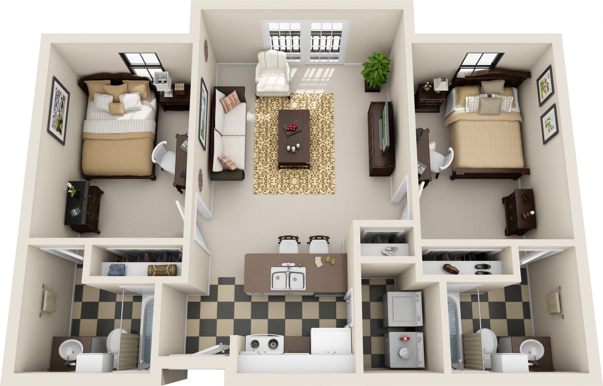 Pin By Janiia On Future 2 Bedroom Apartment Bedroom House Plans Renting A House