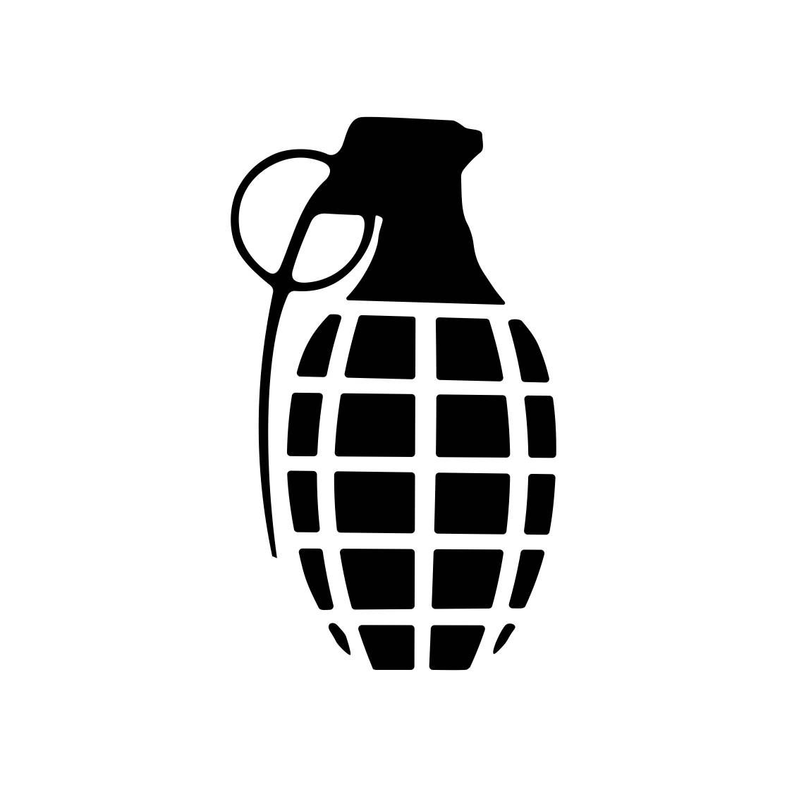 Grenade Military Graphics Svg Dxf Eps Cdr Ai