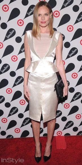 Sade stilini ince detaylarla birleştirmeyi seven Kate Bosworth New York`taki davete Emilio Pucci elbisesiyle katıldı.