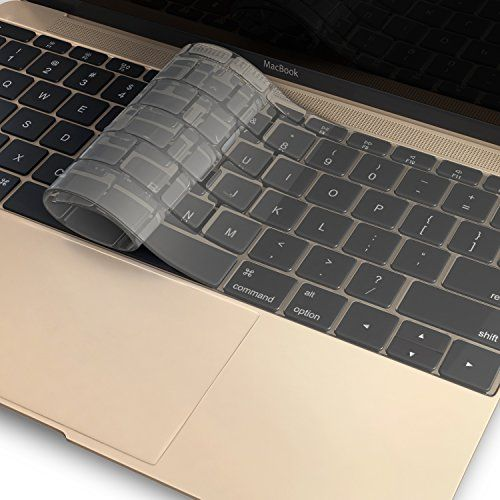 """Retina 12-inch Transparent-CLEAR Keyboard Cover Silicone Skin for MacBook 12/"""""""