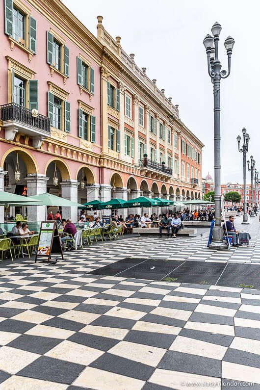 Place Massena, Nice, France. Click through for more pictures of Nice on the A Lady in London blog. #nice #nicefrance #france