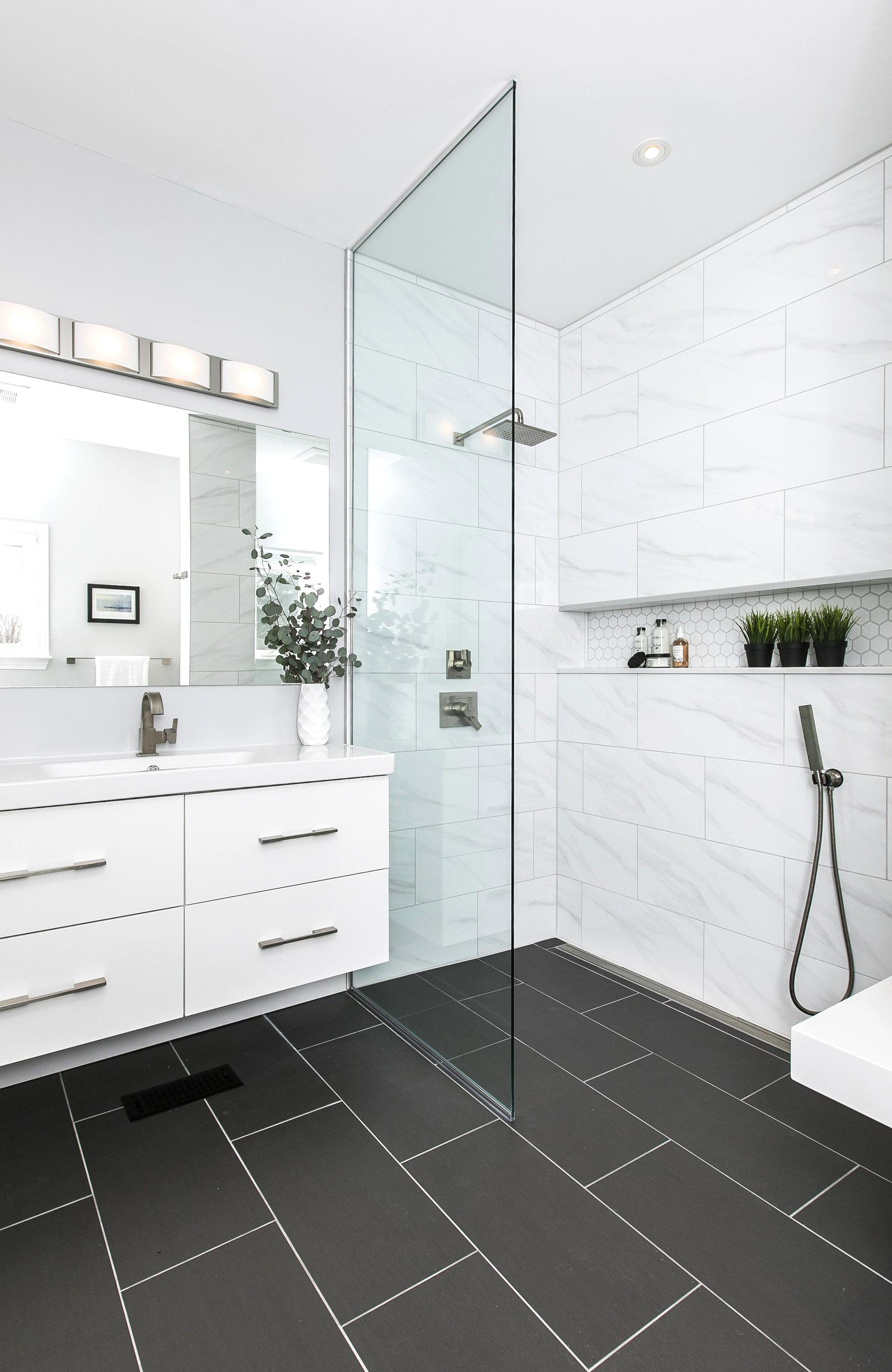 Master Ensuite Bathroomplete Renovation Custom Open Shower