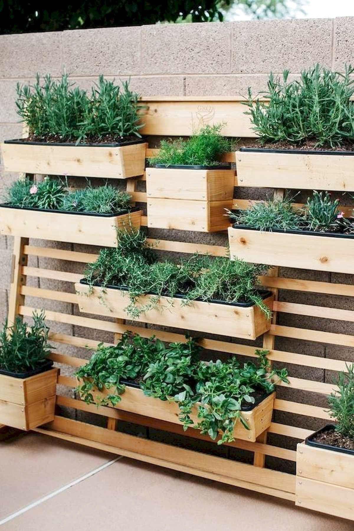 Inspiring Diy Projects Pallet Garden Design Ideas Frugal Living Vertical Garden Diy Vertical Garden Design Small Backyard Gardens