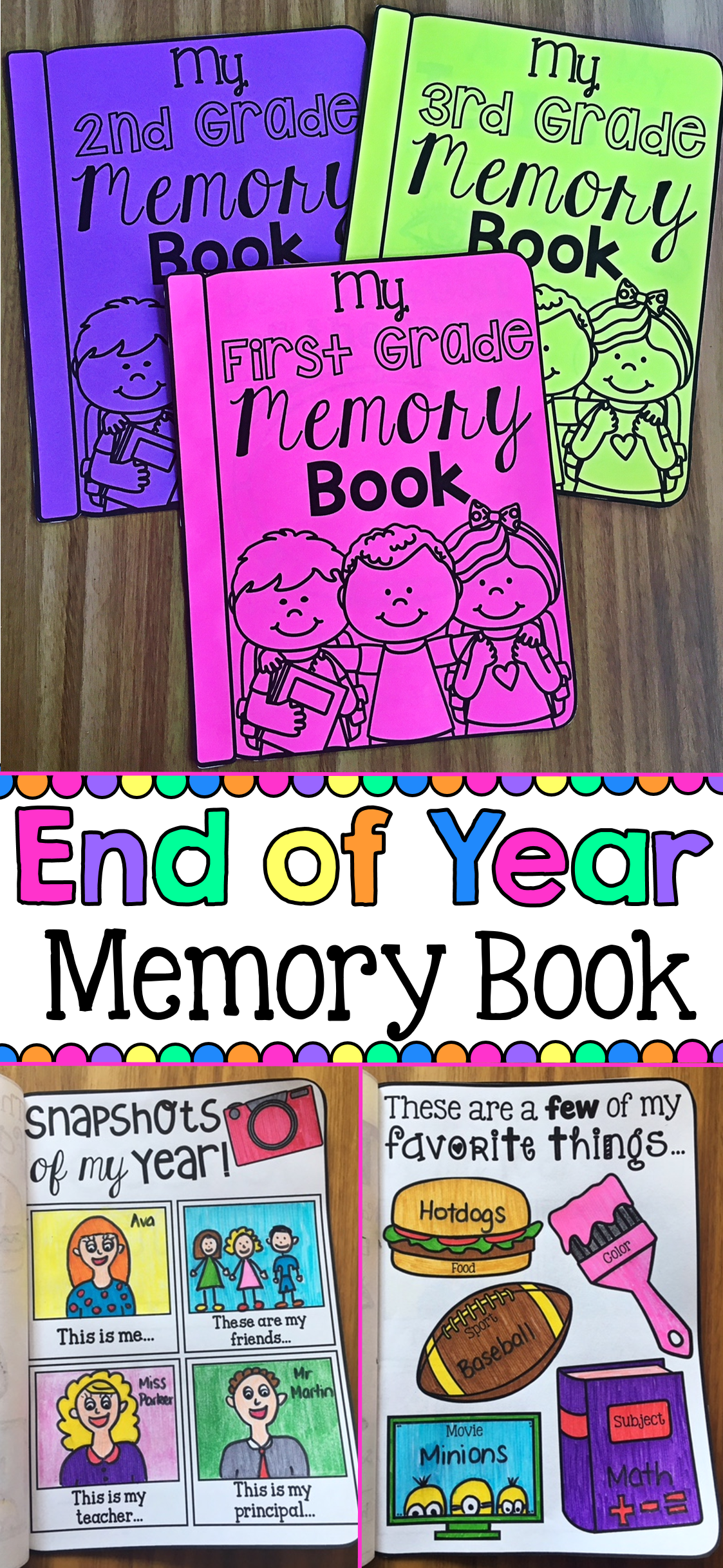 Memory Book For The End Of Year