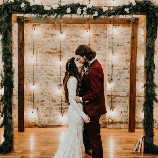 Burgundy Boho Modesto Wedding