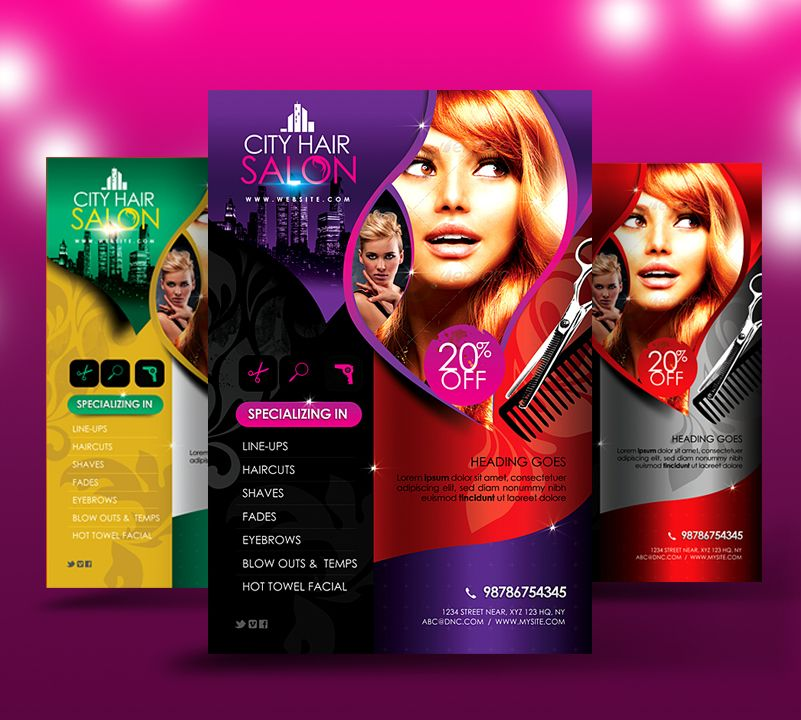High Quality Hair Salon Flyer Ideas