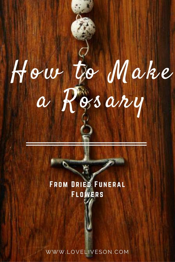 How to make a rosary funeral flowers funeral and beads how to make a rosary izmirmasajfo Image collections