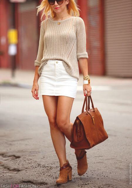 White skirt love