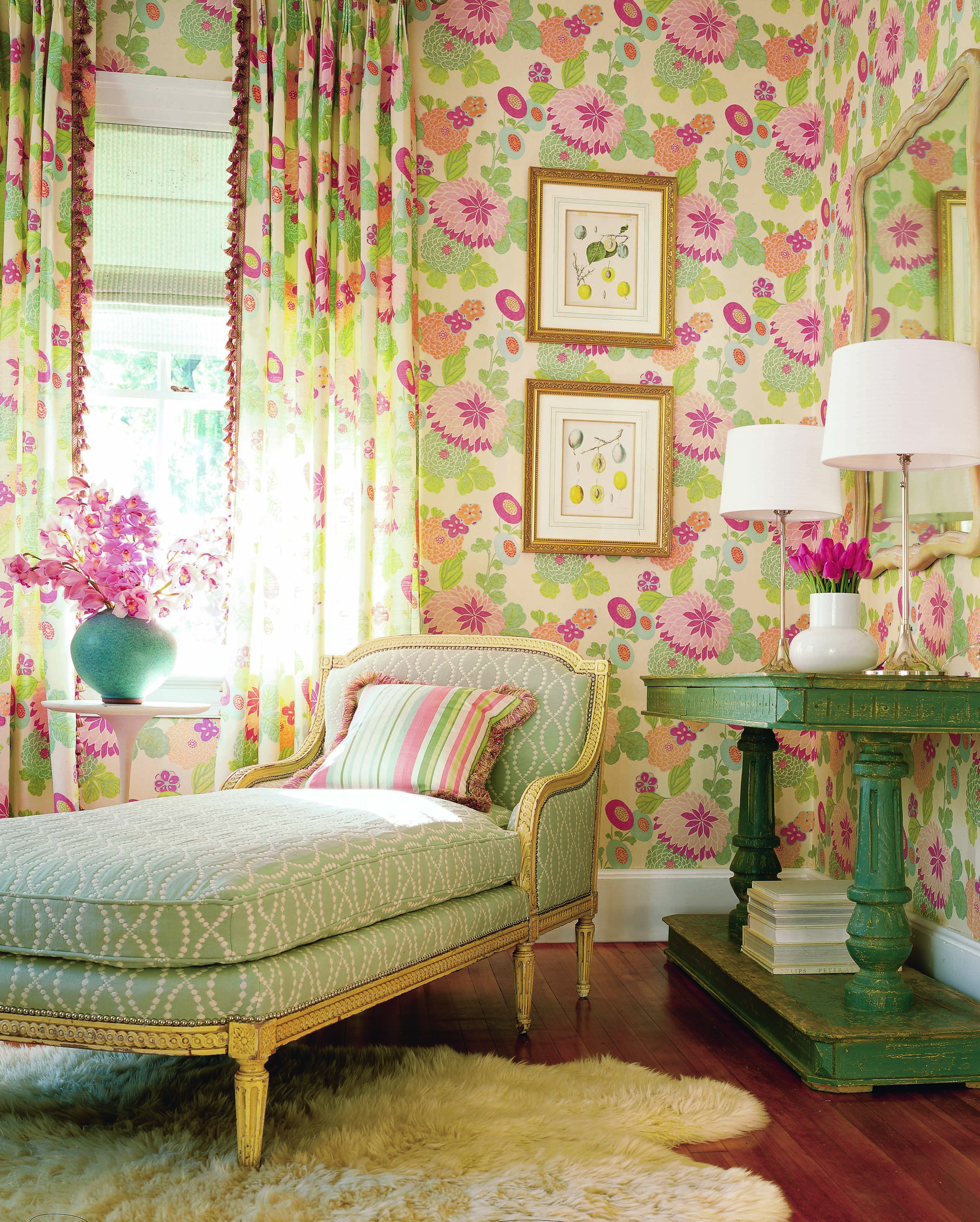 Wallpapers For Rooms Coco Wallpaper And Fabric From Chelsea Thibaut  Matchy Matchy