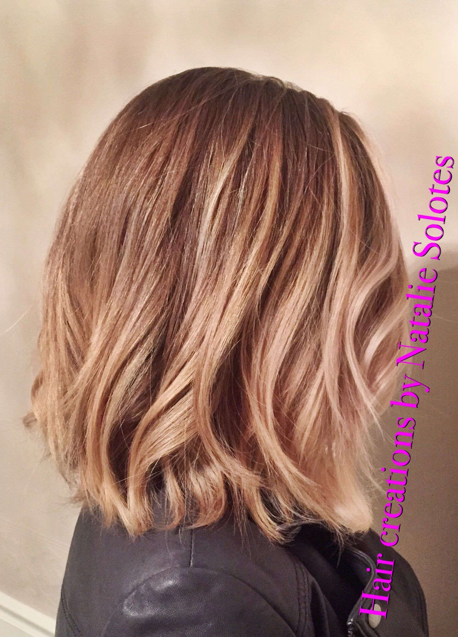 ombre hair styles wavy bob soft a line aline haircut lived in hair and 5566