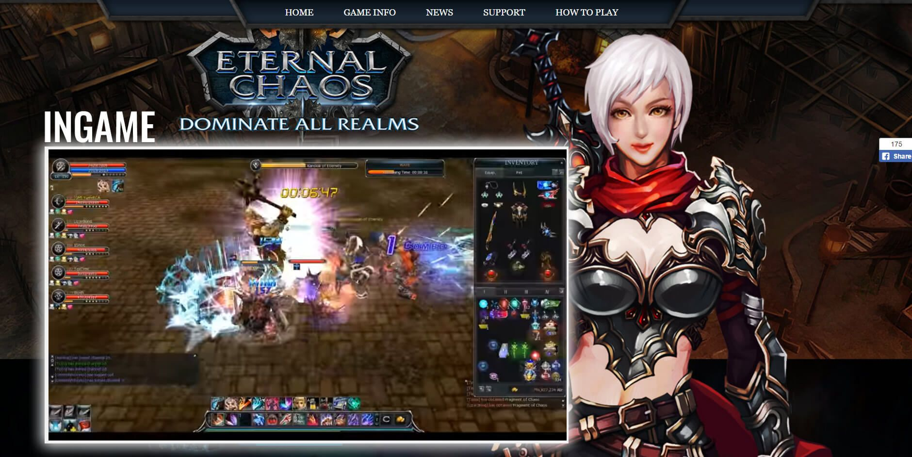 Eternal Chaos Online is a fighting based 3D MMORPG