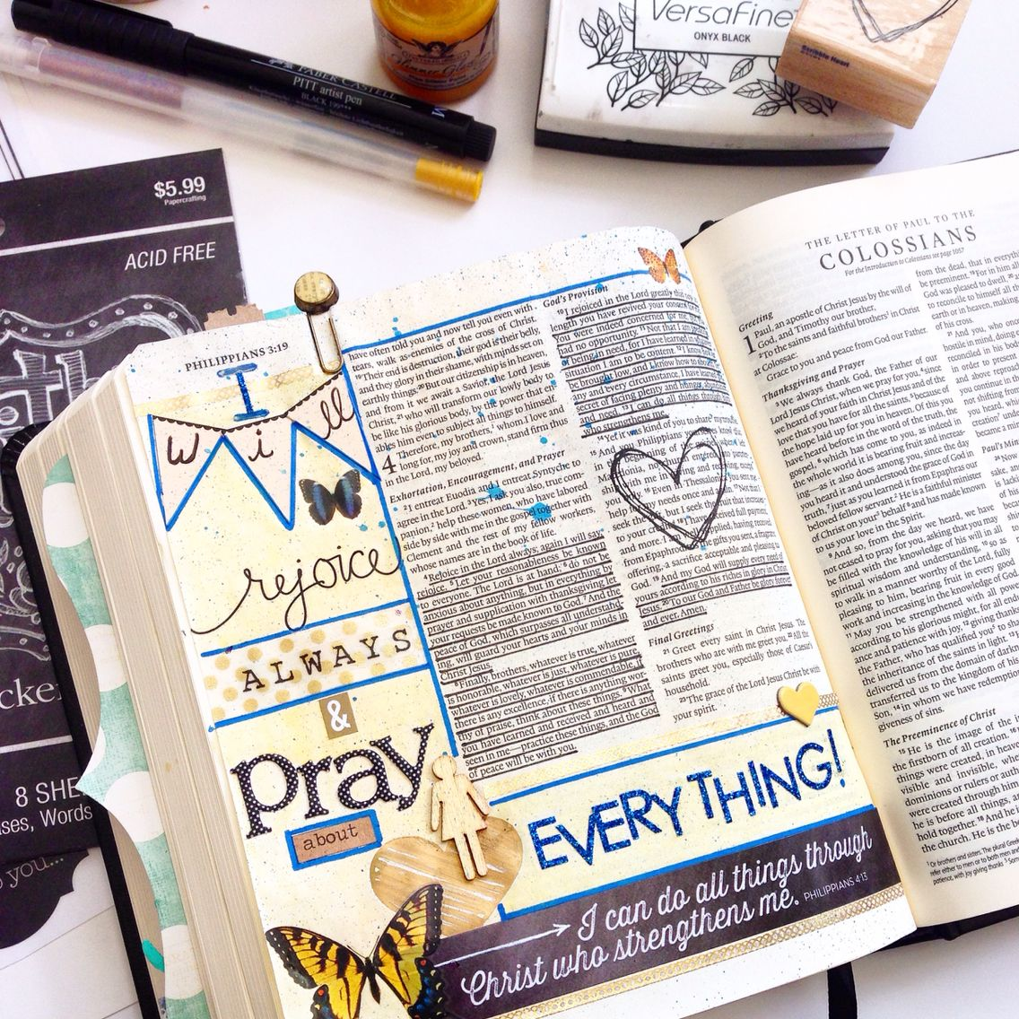 Philippians 4:4-9 I will pray always... By Laura McCollough