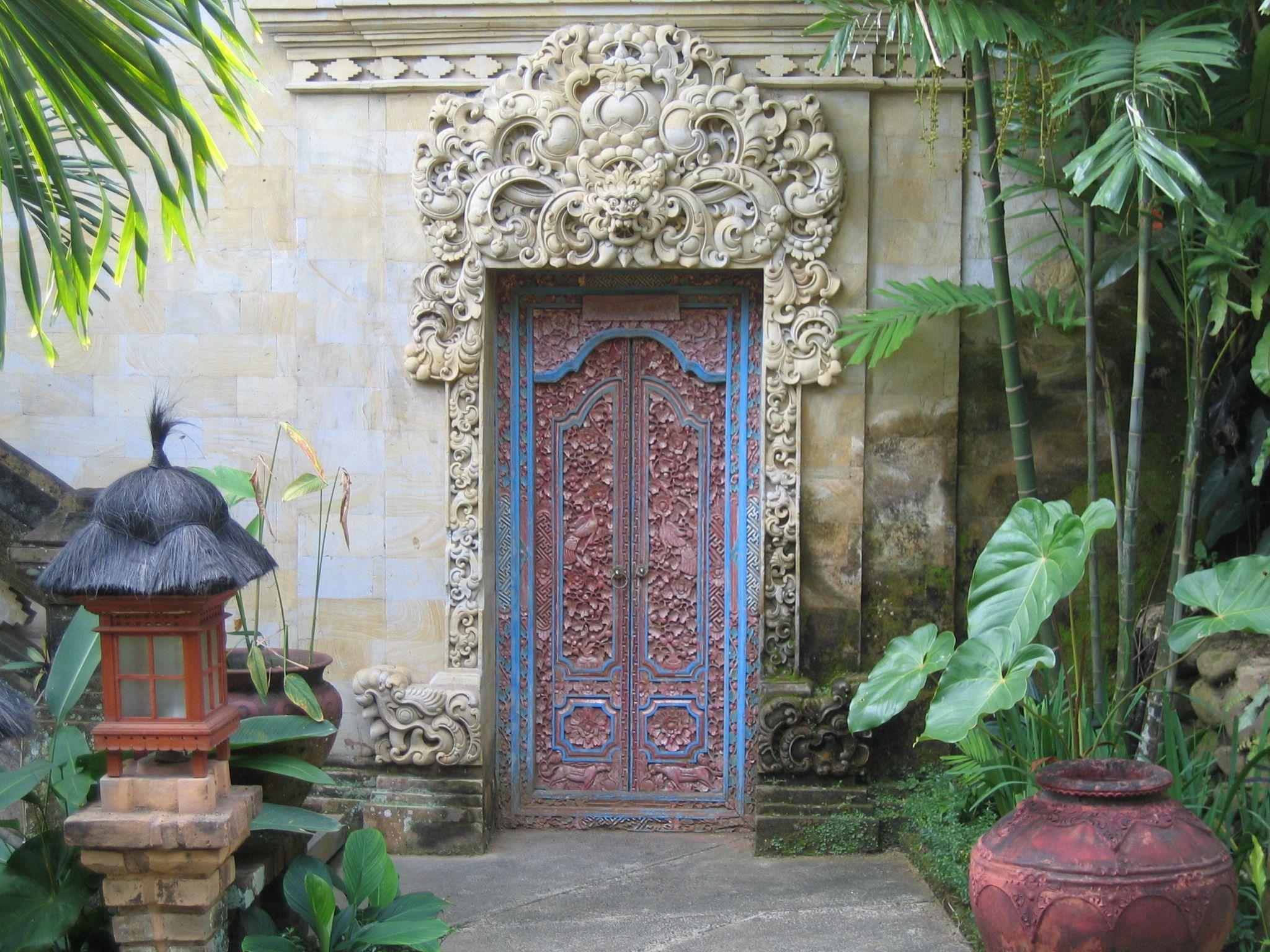 Balinese door & 204 best Bali Doors \u0026 Entrances images on Pinterest   Windows ... Pezcame.Com
