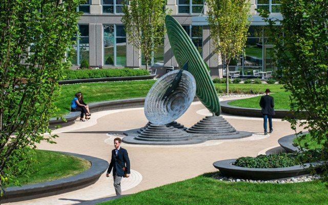 moderne gartenskulptur gestaltungsidee sommer washington | 환경,