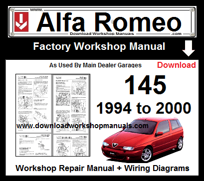 Alfa Romeo 145 Service Repair Workshop Manual Repair Manuals Alfa Romeo Workshop