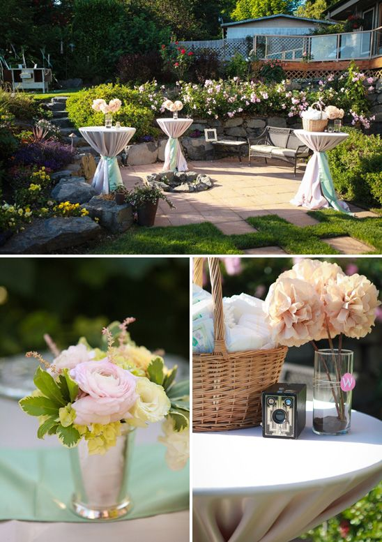 Beautiful Outdoor Baby Shower In Mint, Pink, And Gold...love The