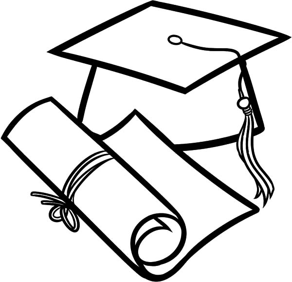 How To Draw Diploma And Graduation Cap Coloring Pages Color Luna Graduation Drawing Graduation Cap Drawing Graduation Cap