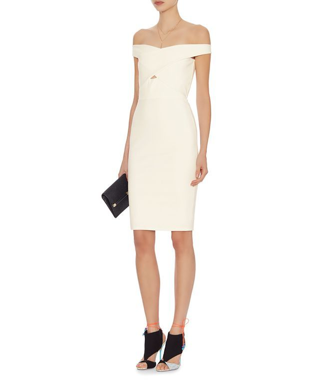 mason by michelle mason Off The Shoulder Cross Strap Dress | Shop IntermixOnline.com