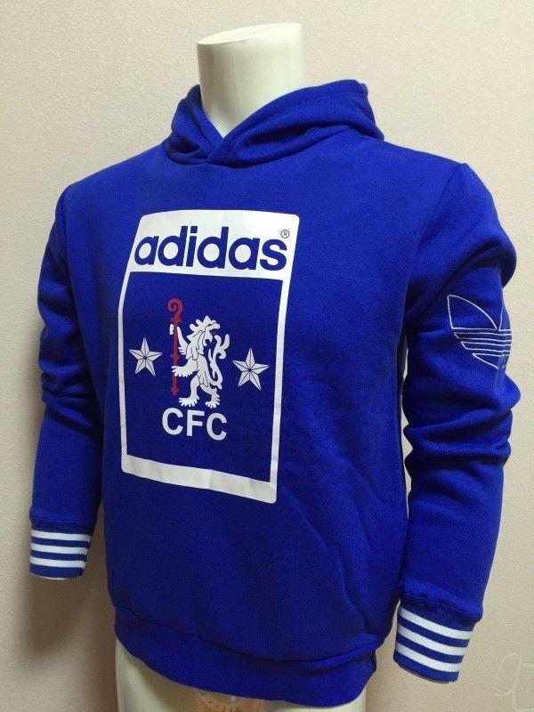 Chelsea FC Official Football Gift Boys Fleece Graphic Hoody Blue