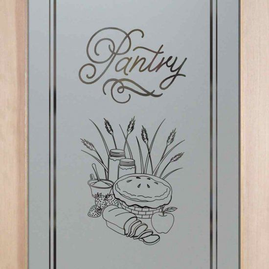 Bon Apple Pie Design Etched Glass Pantry Door By Sans Soucie Art Glass.  Sandblast Etched Glass