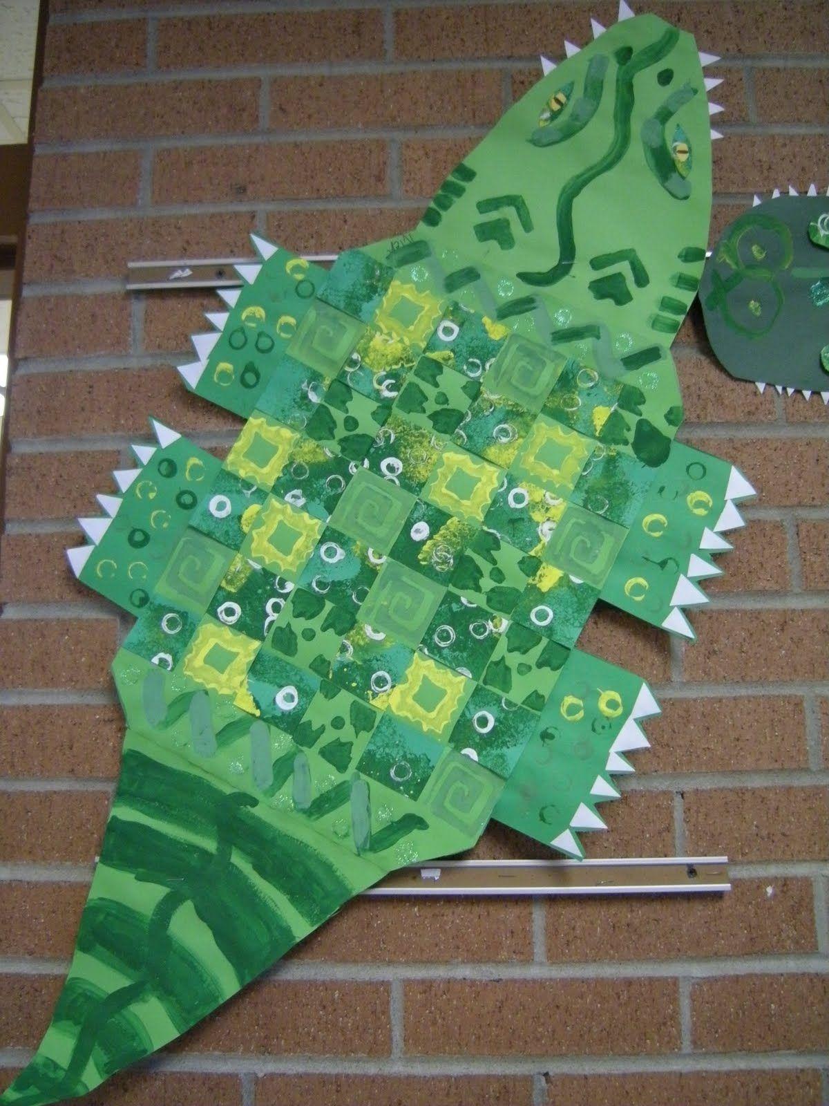 Cute Paper Weaving Alligator