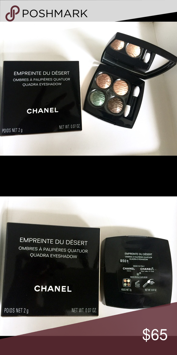 NWT Chanel Empreinte Du Desert Quad Palette Brand new in box with velvet pouch. Never been used. This was limited edition from Summer 2016. CHANEL Makeup Eyeshadow
