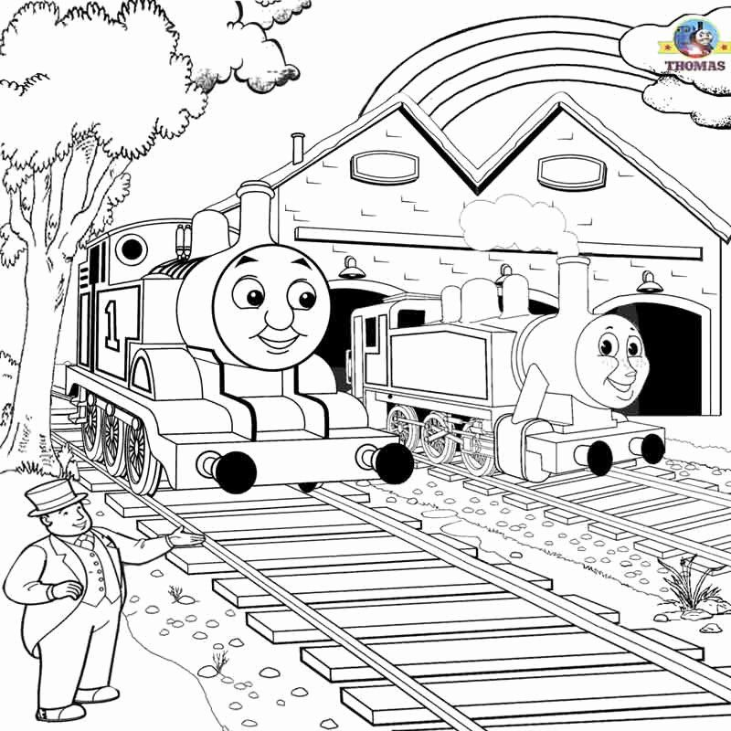 Thomas The Train Coloring Book Elegant Free Printable Railway Thomas Scenery Drawing For Coloring Train Coloring Pages Coloring Pages Princess Coloring Pages