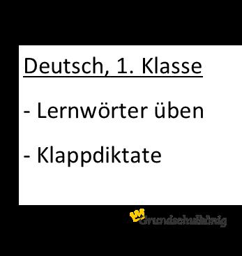 Kostenlose Arbeitsblätter für Deutsch in der 1. Klasse zum Thema ...