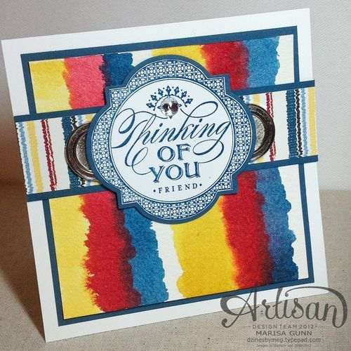 SU Artisan Design Team 2012, February 2013, Just Thinking thinking of you card, by Marisa Gunn